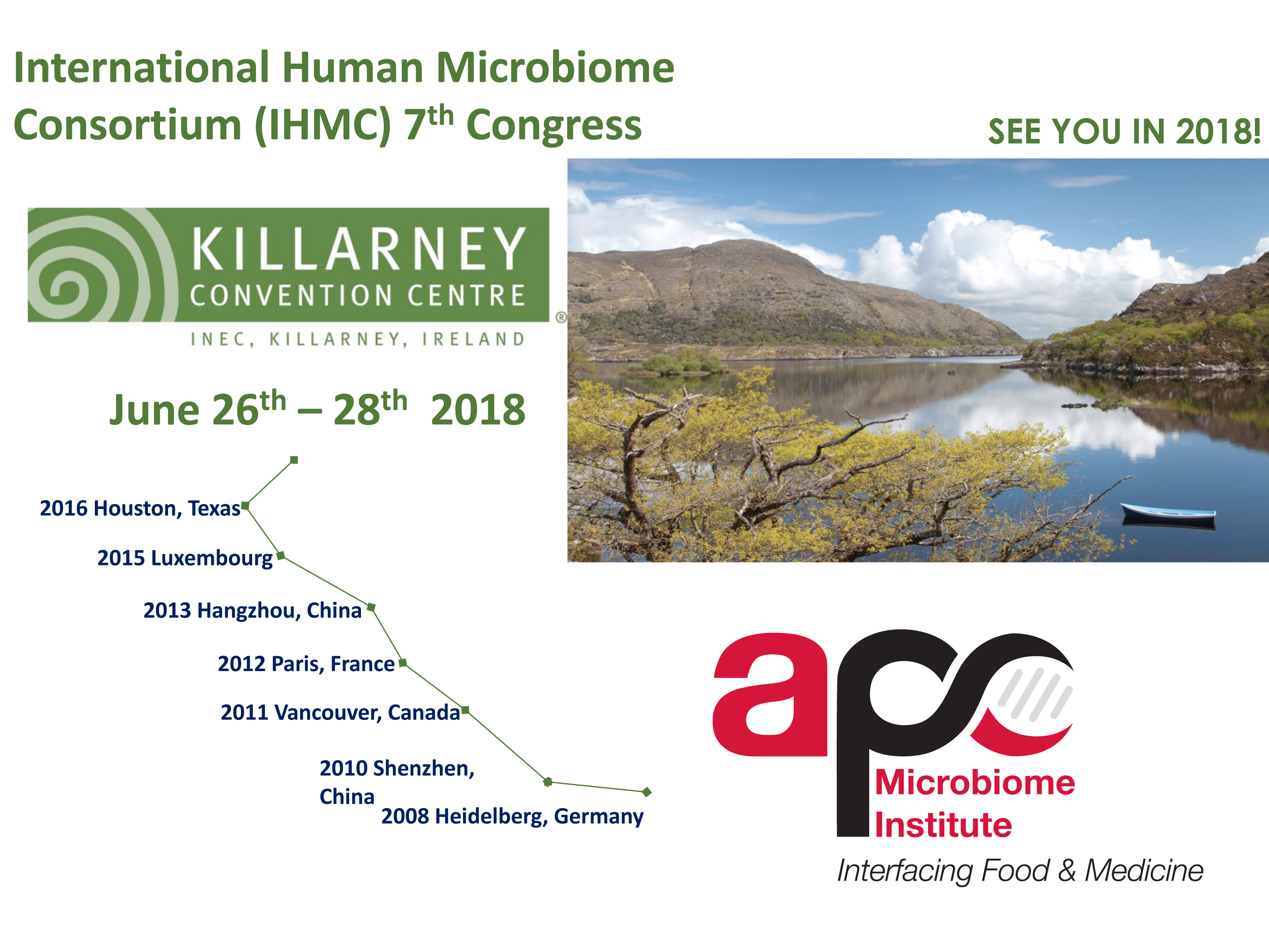 APC Microbiome Institute will host the 2018 International Human Microbiome Congress in Cork