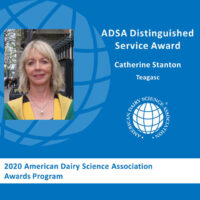Catherine Stanton receives the American Dairy Science Association® Distinguished Service Award