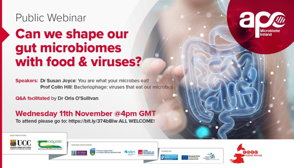 webinar can we shpe our gut microbiome with food and viruses